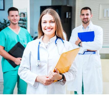 medical professionals smiling