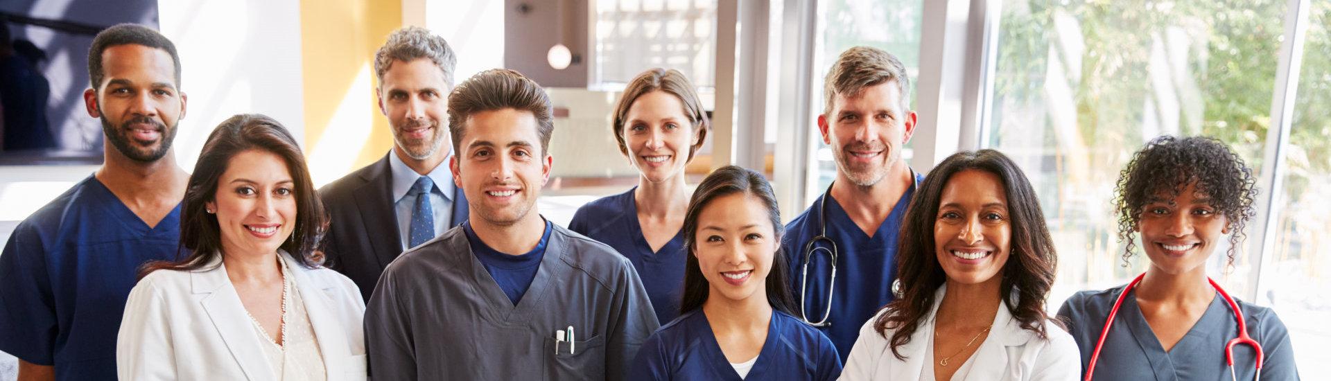 medical staffs smiling