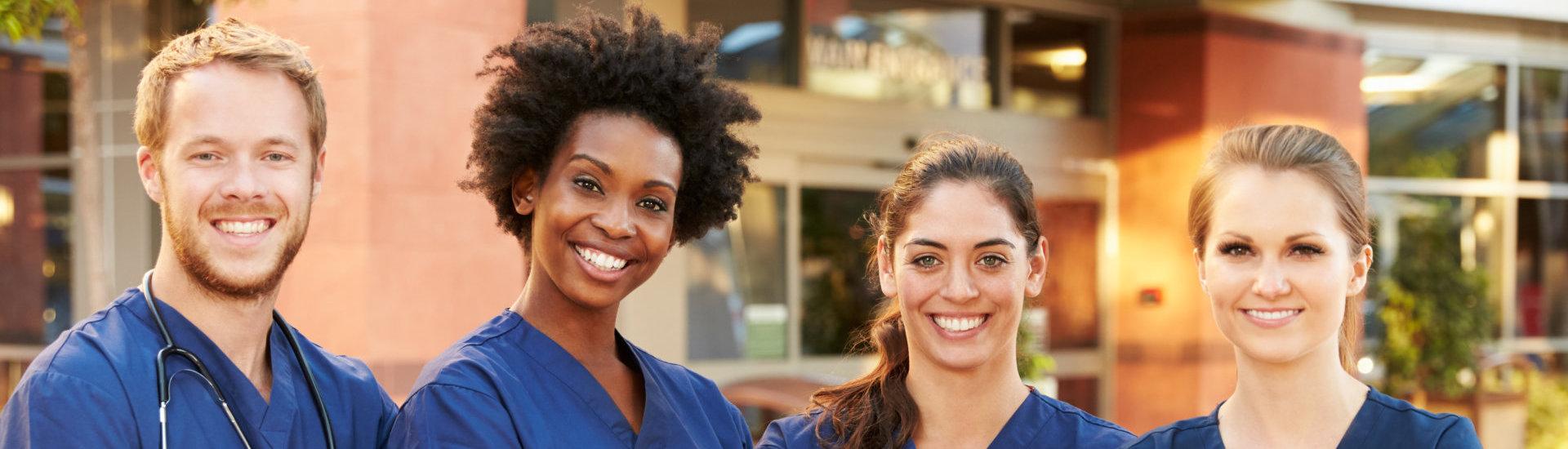 group of medical staffs smiling