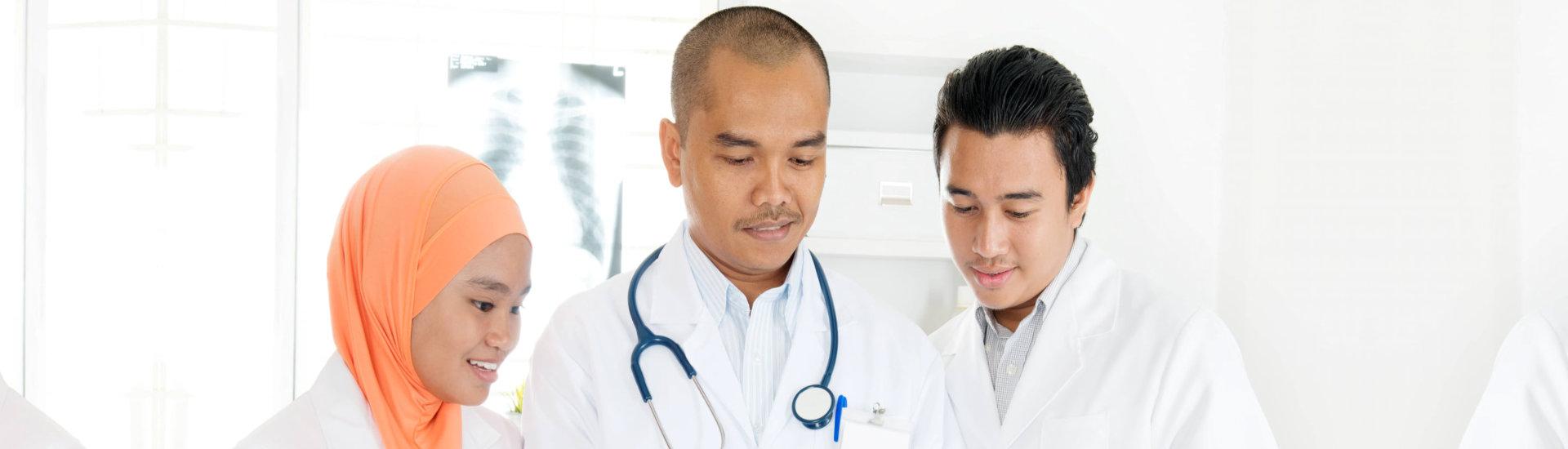 medical staffs reading something